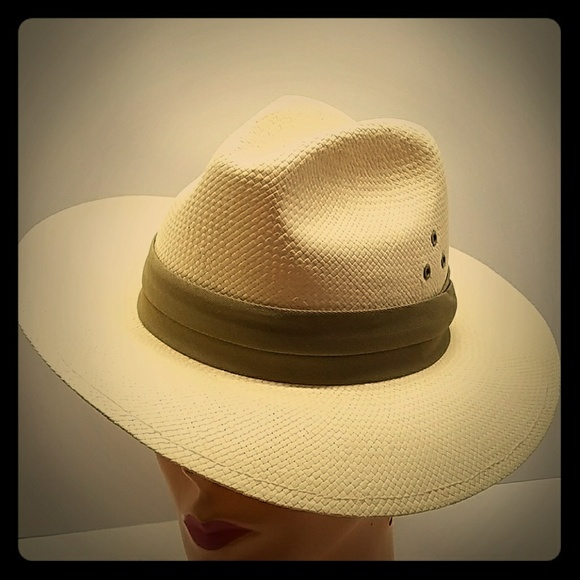 7d22f27bd Dorfman Pacific Accessories | Vintage Panama White Fedora Hat Sm ...